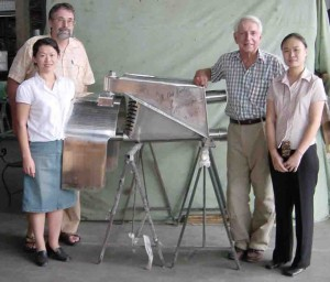 Renato (Sonny) Levi, Rudolf Scholz  with the first Levi Drive built in Malaysia