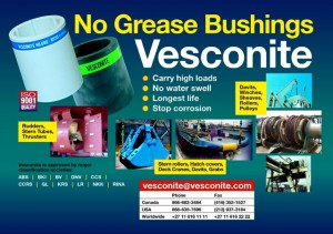Vesconite, Levi Drives, Vesonite on Surface drives, Surface propeller,